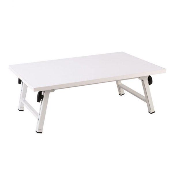 میز تحریر و لپ تاپ تاشو سفید
