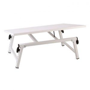 میز تاشو کم جا سفید