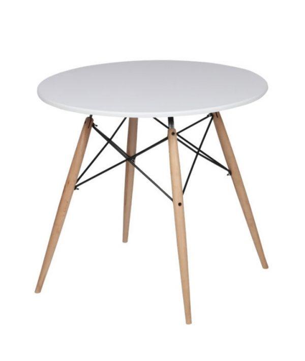 میز ناهار خوری چوبی دایره ای 4 نفره